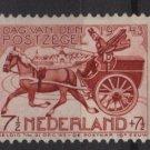 Netherlands 1943, Semi-postal - Scott B148 MH - 7.1/2c + 7.1/2c, 19th Cent  mail cart (10-9)