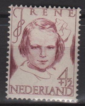Netherlands semi-postal 1946 - Scott B166 MH - 4c + 2c, Princess Irene (10-13)