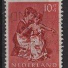 Netherlands, semi-postal, 1954 - Scott B274 used - 10c + 5c, Nurse & child (10-37)