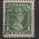 CANADA 1935 - Scott 211 used - 1c, Princess Elizabeth  (10-210)