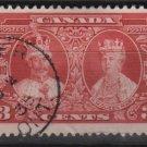 CANADA 1935 - scott 213 used - 3c, Silver Jubilee   (10-211)