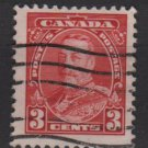 CANADA 1935  - Scott 219 used - 3c,  King George V (10-216)