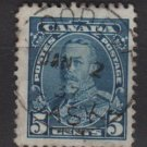 CANADA 1935 - Scott 221 used - 5c, King George V  (10-218)