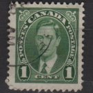 CANADA 1937 - Scott 231sed - 1c,  King George VI (10-220)