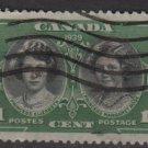 Canada 1939 - Scott 246 used - Pricess Elizabeth & Princess Margaret Rose  (10-234)