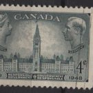 CANADA 1948 - Scott 277 used - 4c, Centenary of Responsible Government  (10-260)