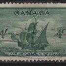 "CANADA 1949 - scott 282 used - 4c, John Cabor's Ship ""Matthew"" (10-264)"