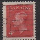 CANADA 1949 - Scott 287 used -  4c, King George VI  (10-271)