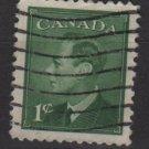 CANADA 1950 - Scott 289 used -  1c, King George VI  (10-275)
