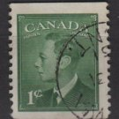 Canada 1949 - Scott 284 used - 1c, George VI  (10-282)