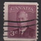 Canada 1950 - Scott 299 used - 3c, George VI  (10-284)