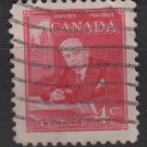 CANADA 1951 - Scott 304 used - 4c, WML King  (10-291)