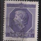 CANADA 1953 - scott 330 used - 4c, Coronation, Queen Elizabeth II   (10-324)
