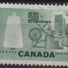 CANADA 1953 - Scott 334 used - 50c, Bobbin & Spinning Wheel (10-330)