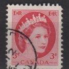 CANADA 1954 - Scott 339 used - 3c Queen Elizabeth II    (10-339)