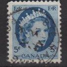 CANADA 1954 - Scott 341 used - 5c Queen Elizabeth II  (10-343)