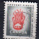 CANADA 1956 - scott 364 used - 5c, Fire Prevention  (2 - 334)