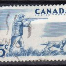 CANADA 1957 - Scott 367  used -  5c, Outdoor Recreeation, Hunting  (10-365)