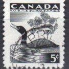 CANADA 1957 - Scott 369 used - 5c, Loon   (10-367)
