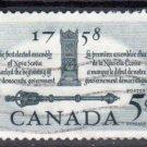 CANADA 1958 - Scott 382 used - 5c,  Speaker's chair & Mace  (10-385)