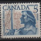 CANADA 1960 - Scott 390 used -  5c, Battle of the Long Sault  (10-399)