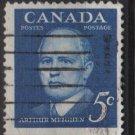 CANADA 1961 - Scott 393 used - 5c,  Arthur Meighen  (10-405)