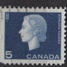 CANADA 1962 - Scott 405 used - 5c Queen Elizabeth II  (10-427)