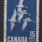 CANADA 1963 - Scott 415 used - 15c,  Geese (10-441)