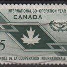 CANADA 1965 - Scott 437 used - 5c, International cooperation    (10-486)