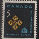 CANADA 1966 - Scott 447 used - 5c, Traffic safety   (10-501)
