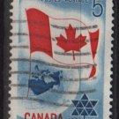 CANADA 1967 - Scott 453 used - 5c, Globe & flag    (10-512)