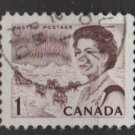 CANADA 1967 - Scott 454 used - 1c Queen Elizabeth II     (10-514)