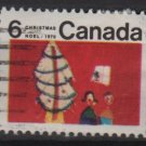 CANADA 1970 - scott 525 used - 6c, Christmas, Children drawing  (10-591)