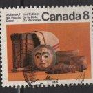 CANADA 1974 - Scott 571 used - 8c,  Pacific Coast Indian Artifacts   (10-620)