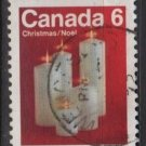 CANADA 1972 - scott 606  used - 6c, Christmas, candles   (10-642)