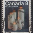 CANADA 1972 - scott 607  used - 8c, Christmas, candles   (10-644)