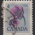 CANADA 1977 - Scott 709 used -  4c, Hepatica  (10-696)