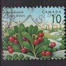 CANADA 1991 - Scott 1354 used - 10c,  Kinnikinnick   (11-164)