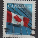 Canada 1991/98 - Scott 1361 used - 45c, Flag  (11-168)