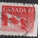 Canada 1991/98 - Scott 1394 COIL used - 42c, Flag  (11-171)