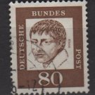 Germany 1961 - Scott 836 used - 80 pf, Heinrich von Kleist  (A - 308)