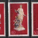 Germany, BERLIN, 1974 - Scott 9N350, 9N351 & 9N352, set of 3, mint no gum - Porcelain (12-150)