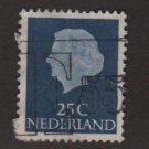 Netherlands 1953/71 - Scott 348 used - 25c, Queen Juliana (8-505)