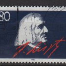 Germany 1986 - Scott 1464 used - 80 pf, Franz Liszt (12-397)