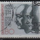 Germany 1982 - Scott 1381 used - 80 pf, James Franck, Max Born (12-404)