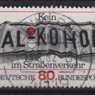 "Germany 1982 - Scott 1376 used - 80 pf, ""Alkohol"", Don't drink & Drive(12-405)"