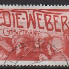 Germany 1987 - Scott 1542 used - 80pf, Gerhart Hauptmann, Die Weber   (12-417)