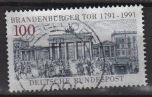 GERMANY 1991 - Scott 1622 used - 100pf, Brandenburg Gate    (12-470)