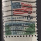 USA 1968 - Scott 1338d used - 6c, Flag over White House , Perf. 11 x 10.1/2 (12-496)