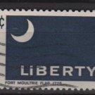 US 1968 - Scott 1345 used - 6c, Historic Flag, Fort Moultrie   (12-498)